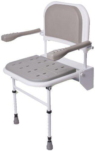 NRS Healthcare - Sedia pieghevole da doccia, con 2 gambe,