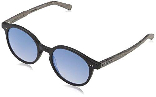 Wood Fellas Unisex Solln Sonnenbrille, Schwarz (black/mirr. blue 5110), Herstellergröße: one Size