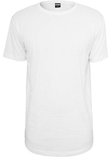 Urban Classics TB638 Shaped Long Tee T-shirt Uomo Regular Fit White Bianco