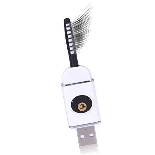 DUNDUNGUOJI DUNDUNGUOJI Lash Curlers Beheiztes Eyelash Curler USB Rechargeable U Disk Shaped Eyelash Curling Tool Mini Lash Curler Weiße - Eyelash Curler Mini Lash Curler