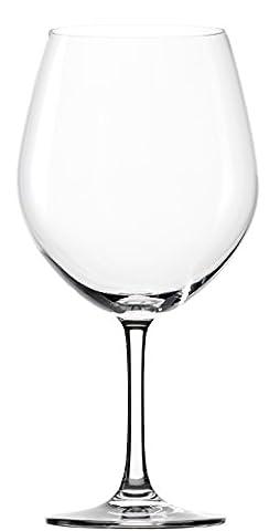 Stölzle Lausitz Classic Long-Life Burgundy Red Wine Glasses 770ml, Set of 6, dishwasher proof