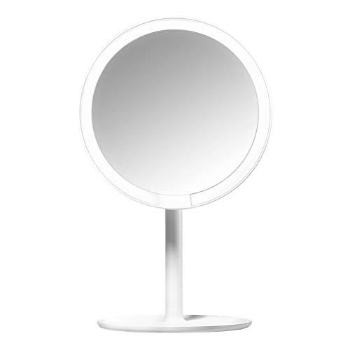 HZJ Make-up-Spiegel Wiederaufladbare Helligkeit einstellbar LED HD Make-up-Spiegel Tageslicht Mijia Schminkspiegel Kosmetik