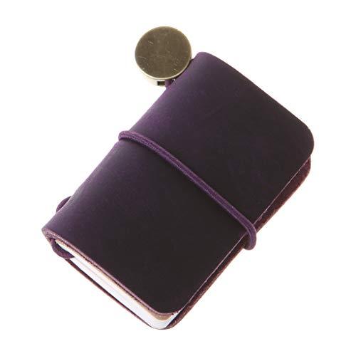 Shaoyanger, mini diario portatile da viaggio in pelle, con copertina realizzata a mano, con inserti, accessori creativi, idea regalo per uomini e donne m Violet