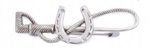 STERLING SILVER HORSEWHIP & HORSESHOE BROOCH