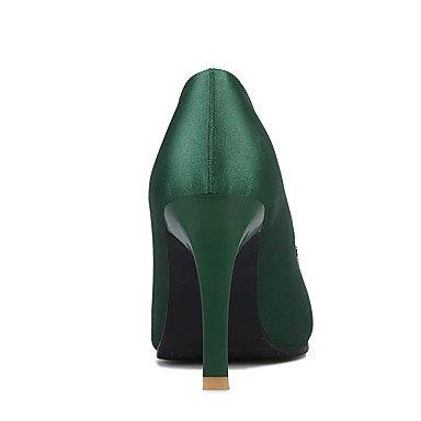 LFNLYX Frauen Fersen Frühling Sommer Herbst Winter Club Schuhe Seide Hochzeit Party & Abendkleid Stiletto Ferse funkelnden Glitzer schwarz grün rot Green