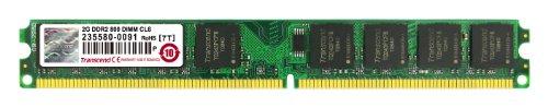 Transcend JM800QLU-2G Arbeitspeicher 2 GB (800 MHz, CL6) DDR2-SDRAM für Desktop PCs -