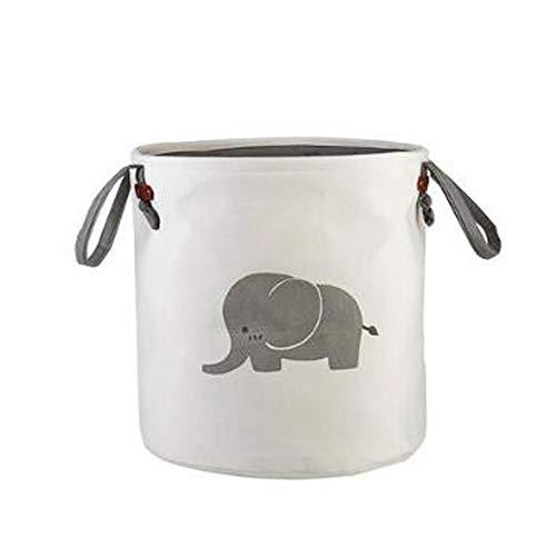 HU Tuch Kleidung Speicher Eimer Schmutz Korb Finishing Speicher Eimer Kinder Spielzeug Speicher Eimer (Pattern : Gray Elephant)