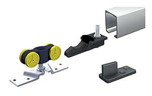 Mantion MINISPORT MA 80-190 Schiebetürbeschlag, Schiebetür Türbreite: 91-120cm, Laufrohr: 190cm, Tragkraft 80kg