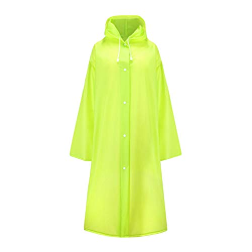 Reusable Rain Poncho,Waterproof & Windproof Raincoat Rain Resistant Rainwear With Elastic Drawstring Hood And Sleeves