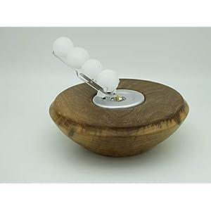Kerzenhalter Kerze Wachskugeln Nussbaum Holz Edelholz Teelichthalter