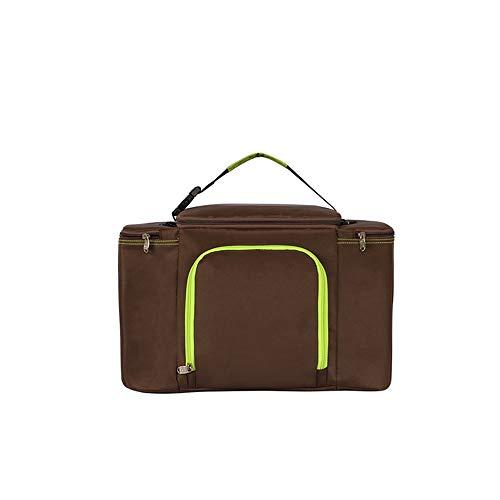 Xiaoningmeng Kühltasche - Soft-Sided Collapsible Cooler- Wiederverwendbare Tasche für Campingkühler - Schwarz/Rot/Braun, 26L Taschen für die Reise- und Lebensmittelkonservieru (Color : Brown) Coll Box