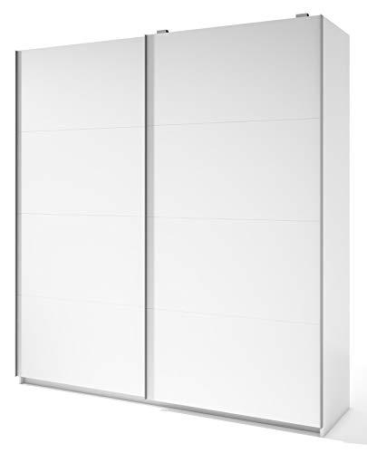 Miroytengo Armario Grande 2 Puertas correderas Color Blanco Dormitorio Matrimonio 216x202x56 cm
