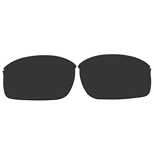 ACOMPATIBLE Ersatz Linsen für die neue Sonnenbrille Oakley Wiretap oo4071, Black - Polarized, S