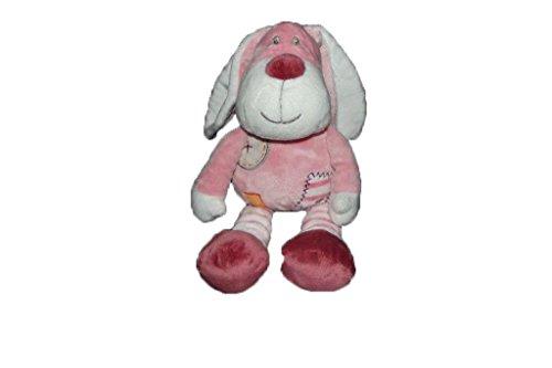 Kiabi–Doudou Kiabi perro rosa Rayee Rayure color...