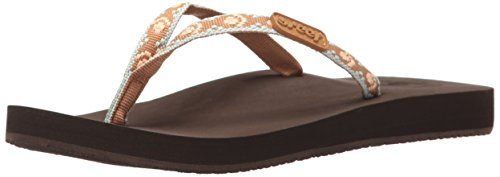 Reef Damen Ginger Sandalen, Braun (Brown/Peach), 35 EU