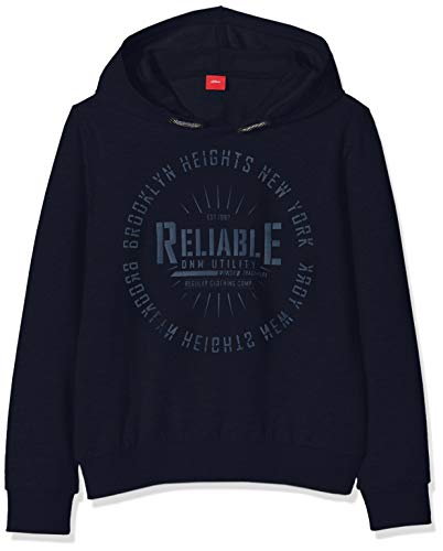 s.Oliver RED Label Jungen Sweatshirt mit modischem Print auf der Front Navy S.REG