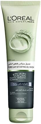 L'Oreal Paris Pure Clay Black Face Cleanser with Charcoal Detoxifies and Clarifies, 150ml