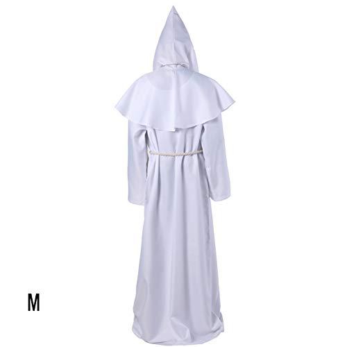 Mönch Mit Kapuze Robe Umhang Cape Friar Mittelalterlichen Renaissance Priester Männer Robe Kleidung Halloween Comic Con Party Cosplay - Comic Con Kostüm Einfach
