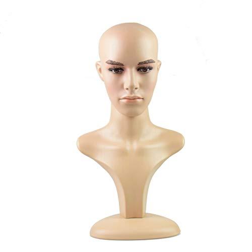Männlicher Schaufensterpuppe für Hüte, Perücken, Sonnenbrillen, Halsketten, Schal, Schaumstoff