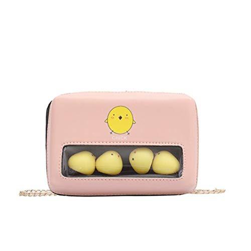Pink PU Crossbody Umhängetasche Small Square Bag Wallet Chain Bag für Frauen Mädchen Geburtstage Weinachten Gastgeschenke für Mädchen Frau