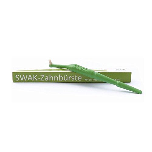 SWAK 3.0 - Miswak - Lindgrün, Handzahnbürste, Naturzahnbürste, Biozahnbürste