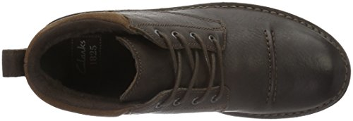 Clarks Lawes Top, Derby Homme Marron (Brown Wlined Lea)