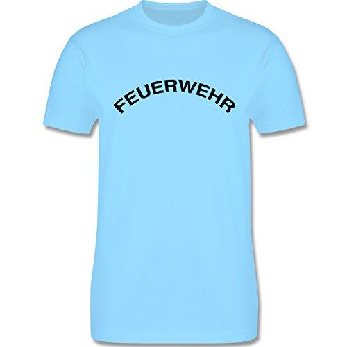 Feuerwehr - Feuerwehr Schriftzug - Herren Premium T-Shirt Hellblau