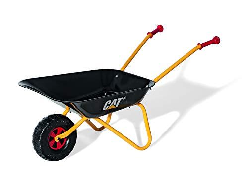 Rolly Toys 271818 Caterpillar Kinderschubkarre mit Metallschüssel und Kunststoffgriffen, für Kinder ab 2.5 Jahren