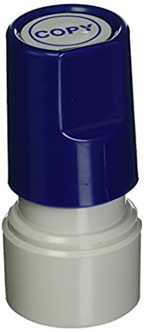 Stamp-Ever Pre-Inked Round Message Stamp, Copy, Stamp Impression Size: 3/4-Inch, Blue (5971)