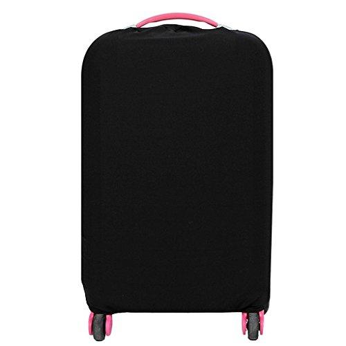 Cover Proteggi Valigia Copertura Per Valigia Elastico Tessuto proteggi bagagli valigie antipolvere nero (non includono bagagli) (L)