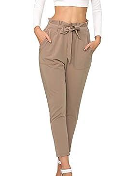 CICIYONER Mujeres Pantalones Lápiz Pantalones hasta los Tobillos Tight Pants Casual
