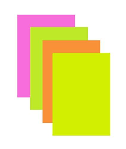 uckerpapier / Farbe: je 10x Neon-pink, gelb, grün und orange (Neon-pink Papier)