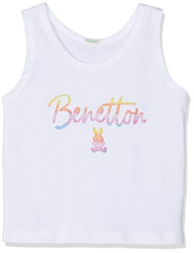 United Colors of Benetton Baby-Mädchen Tank-top Weste, Weiß (Bianco 101), One Size (Herstellergröße: 56) -