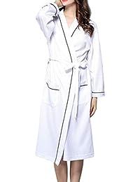 Batas De Gofres De Lujo para Mujer Batas Ropa Unisex De Dormir De Algodón Suave De