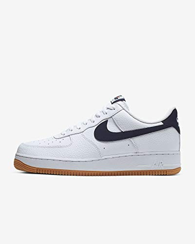 Nike Air Force 1 07 2, Chaussures de Basketball Homme, Multicolore (White/Obsidian-University Red 100), 43 EU