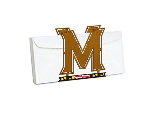 Henson Metal Works Terri Metall funktioniert 4502–47Universität Maryland Logo Briefhalter