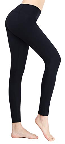 Zucker Pocket Damen Fitness Leggings Walking Running Yoga Pants Gr. Large, schwarz -