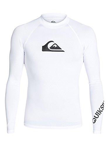 Quiksilver Time - Long Sleeve UPF 50 Rash Vest - Männer (Weiß Rash Vest)