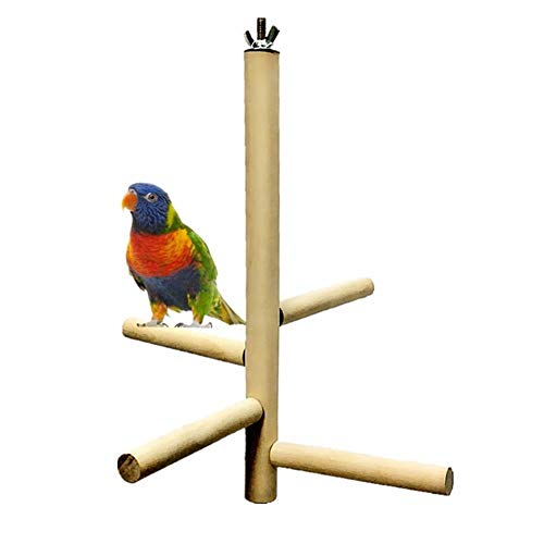 368° inspiration Vogel Spielzeug Haustier Vogel Spielzeug for Käfig Papagei Barsch 4 Ebenen Spielzeug Naturholz Drehleiter (Color : A) -
