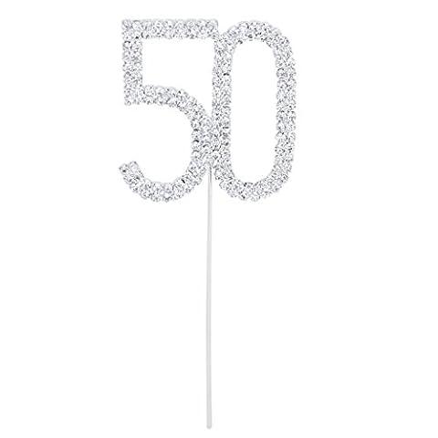 Karen's Cake Toppers Décoration Debout Pour 50e anniversaire/fête d'anniversaire, 50th