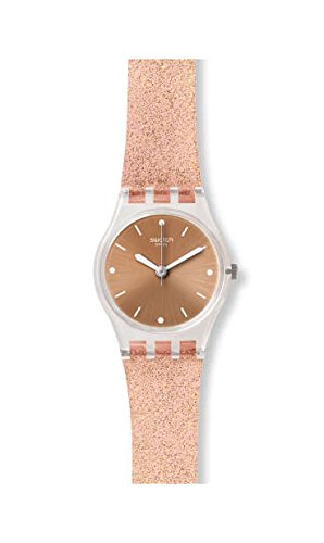 Swatch Damen Analog Quarz Uhr mit Silikon Armband LK354D