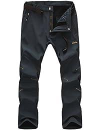 Geval Pantalones impermeables a prueba de viento de los hombres del paño grueso y suave de Softshell