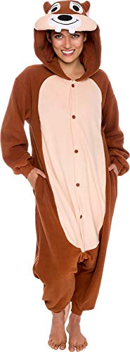 Memoryee Unisex Pijamas para Adultos - Fiesta de Disfraces de Lujo Cosplay Animal Ardilla Disfraz Idea L