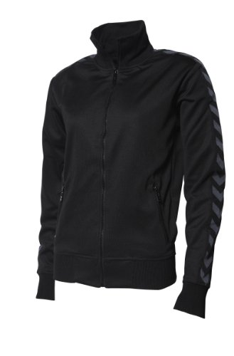 Hummel Corporate Chevron Veste zippée pour femme noir - Noir/Gris