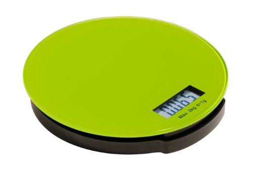 Premier Housewares Elektronische runde Küchenwaage Zing 3x16x16 cm limette