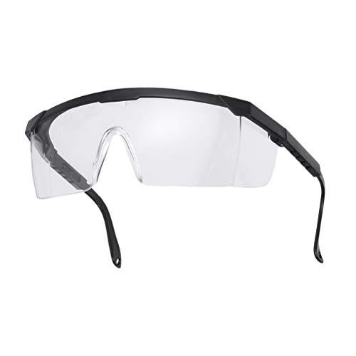 LIOOBO 2 STK. Schutzbrille einstellbar mit klaren, kratzfesten Anti-Fog-Wrap-Around-Gläsern und rutschfesten Griffen, UV-Schutz (schwarz)