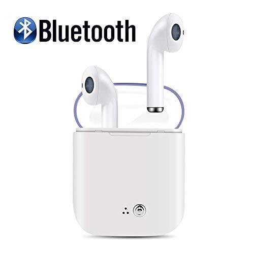 IDOOSMART Drahtloses Headset Bluetooth-Headset Sportkopfhörer In-Ear-Kopfhörer Kopfhörer mit Geräuschunterdrückung HiFi-Kopfhörer mit Mikrofon, kompatibel mit Smartphone