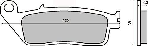 Pastiglie Freno Organische Anteriore KAWASAKI Kle Versys 650 2015-2015
