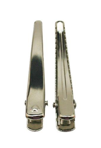 Generic Duck bill clip color argento 6,1cm di lunghezza con denti, confezione da 30