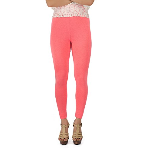 Legrisa Fashion Women's Neon Pink Ankle Length Leggings in XL, XXL & XXXL  available at amazon for Rs.314